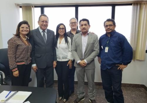 AUDIÊNCIA COM O DESEMBARGADOR PRESIDENTE DO TRIBUNAL DE JUSTIÇA DO ESTADO DO AMAZONAS YÊDO SIMÕES DE OLIVEIRA